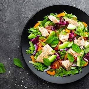 Hapjes en salades