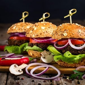 Mini broodje hamburger